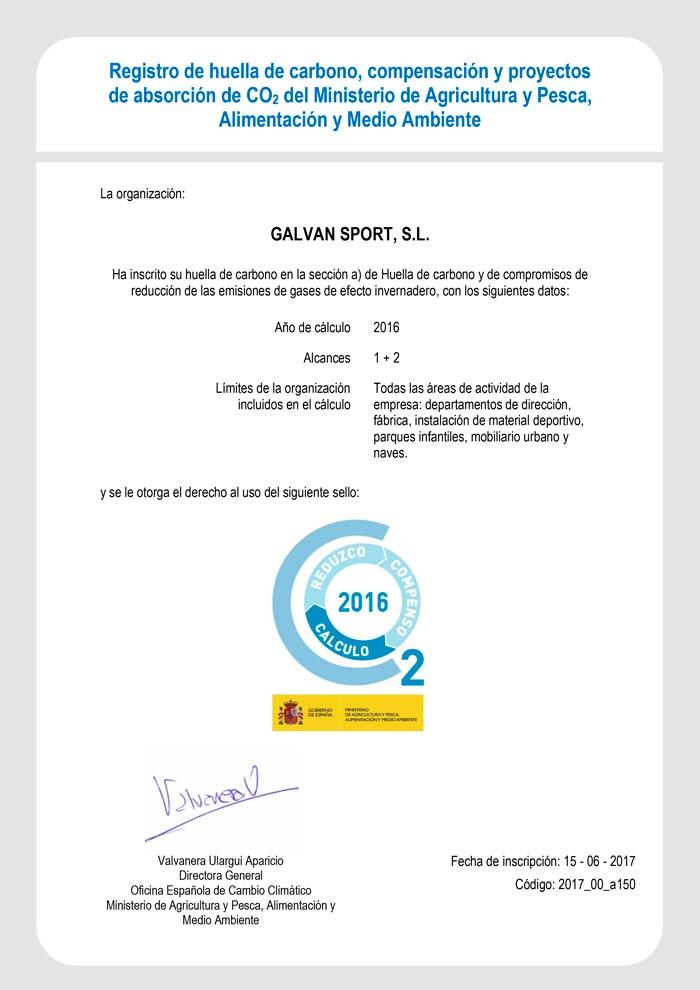 certificado huella de carbono b2