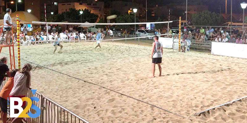 postes cinta delimitadora voley playa