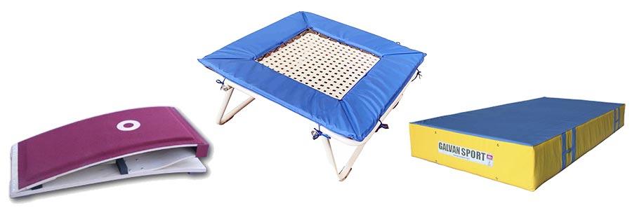 material gimnasia en trampolin
