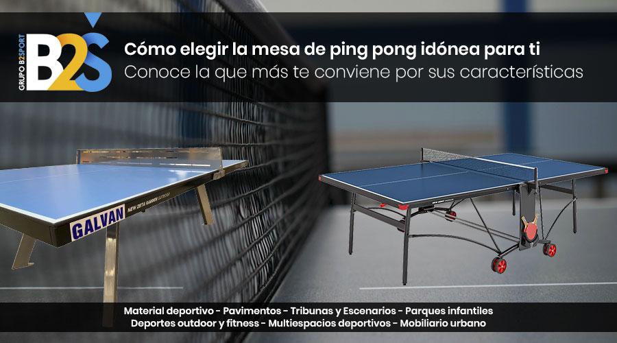 como elegir una mesa de ping pong
