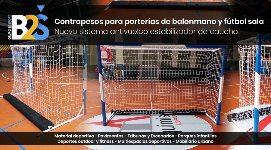 Contrapesos para porterías de balonmano y fútbol sala