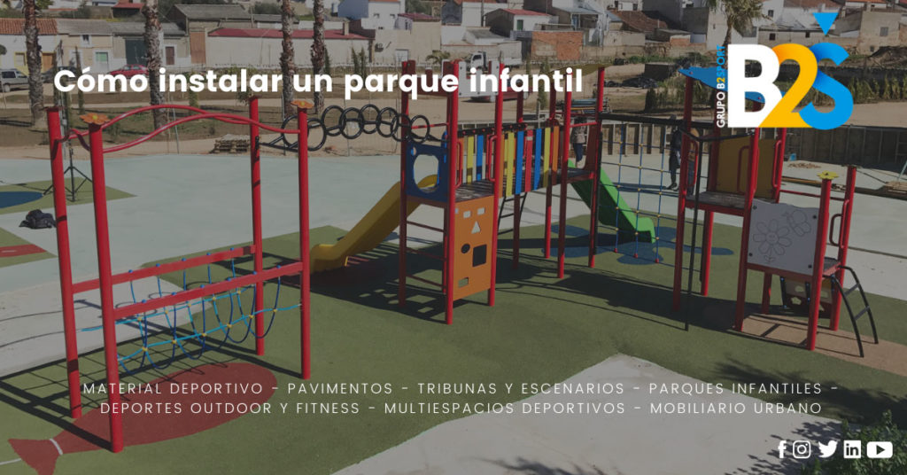 como instalar un parque infantil