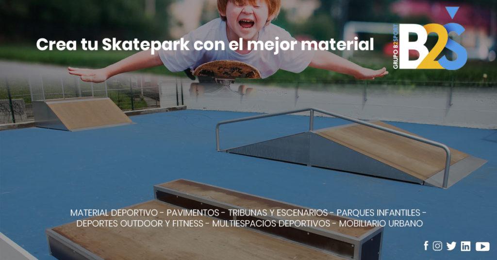 Skatepark con el mejor material