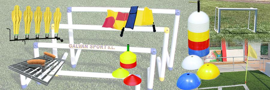 material deportivo pretemporada futbol